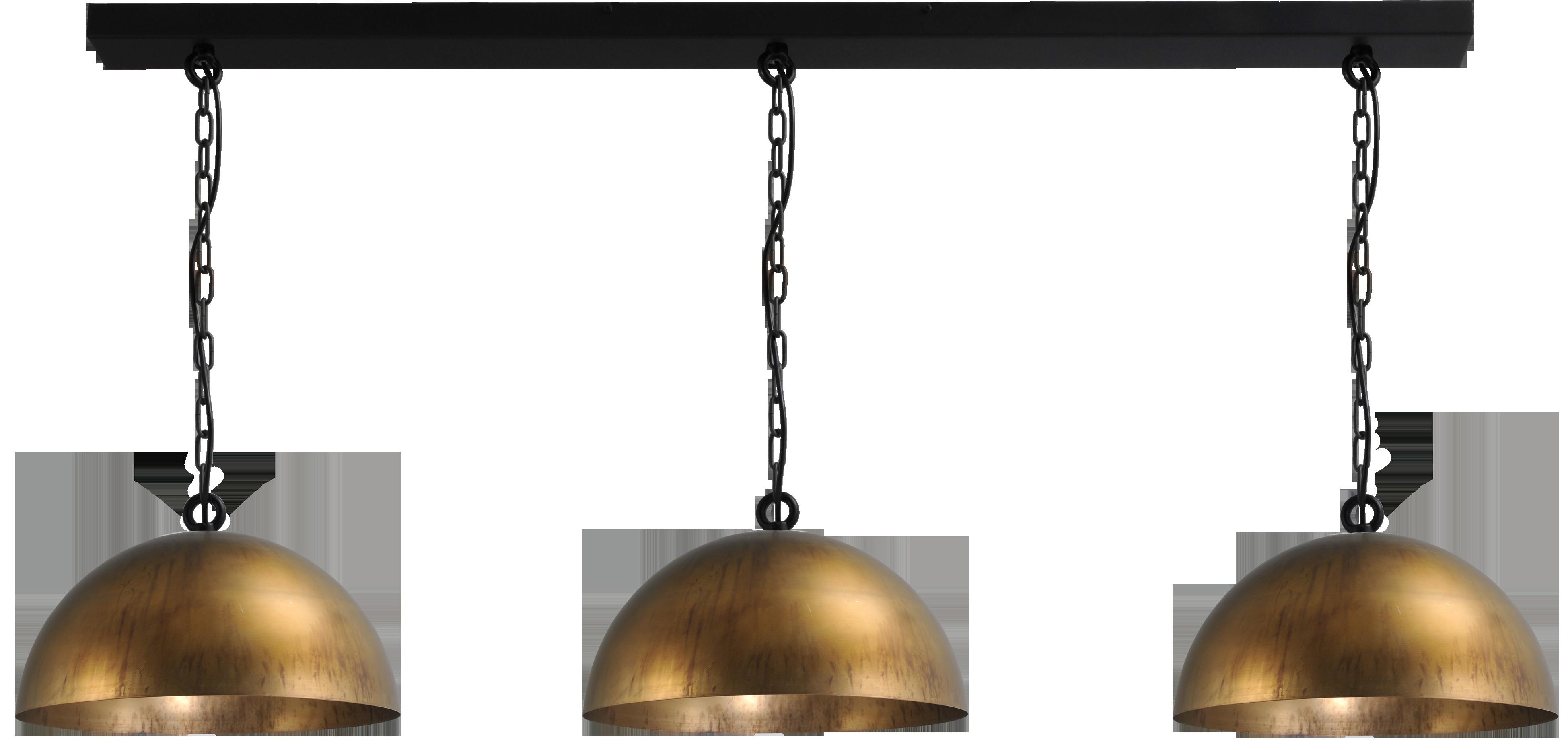 Larino Antique Brass HL LARINO 3LTS Ø40CM ANTIQUE BRASS/ANTIQUE BRASS