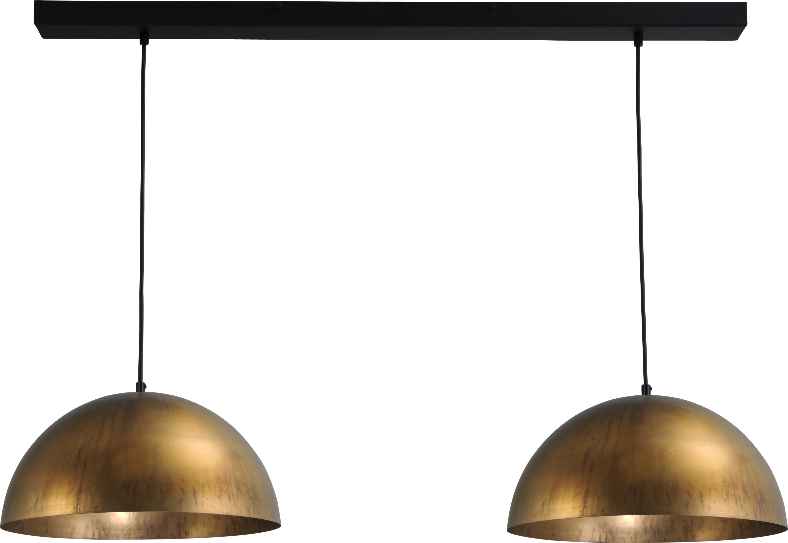 Larino Antique Brass HL LARINO 2LTS Ø40CM ANTIQUE BRASS/ANTIQUE BRASS