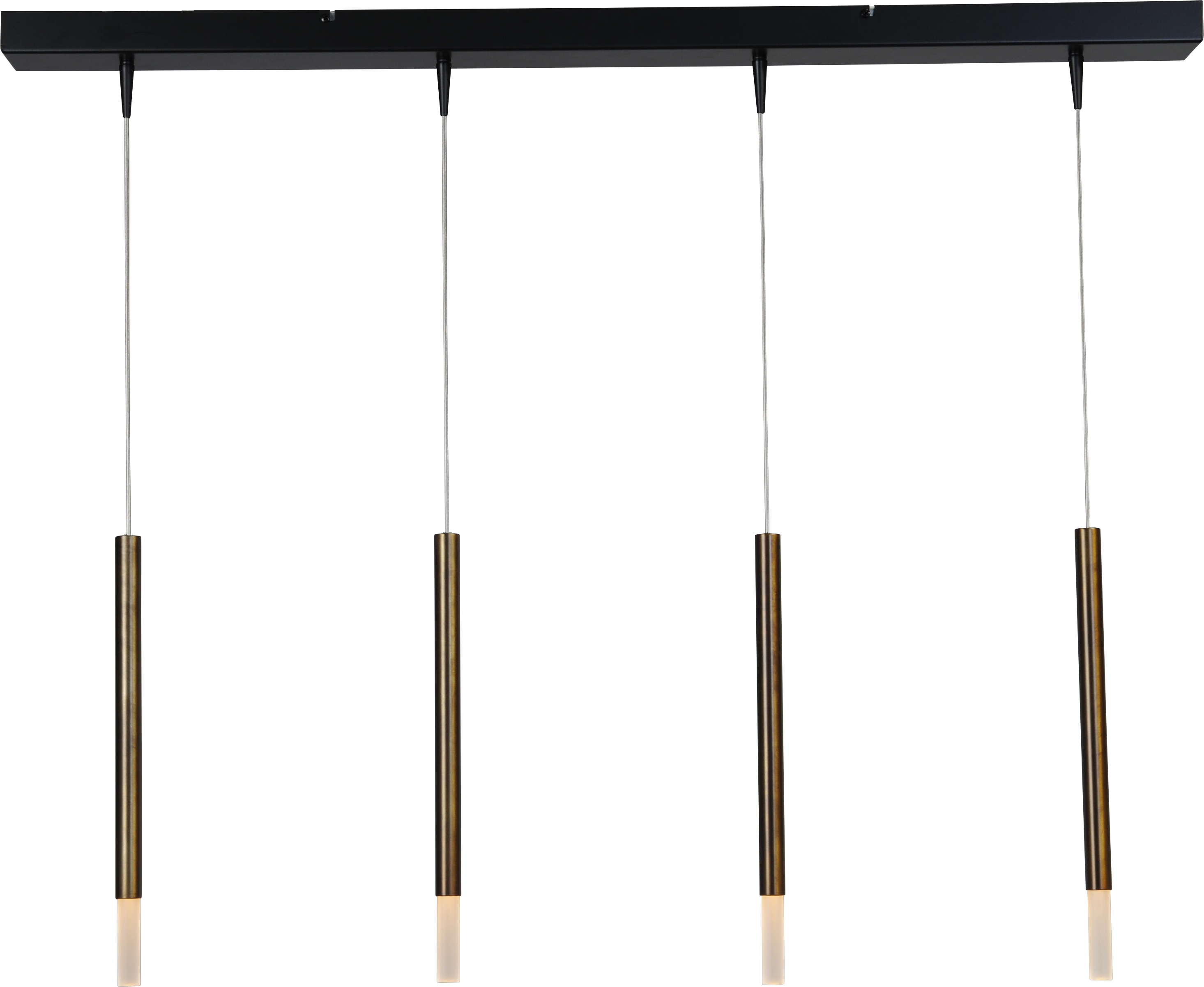 Flute HL FLUTE 4LTS BLACK/ANTIQUE BRASS 100X8CM