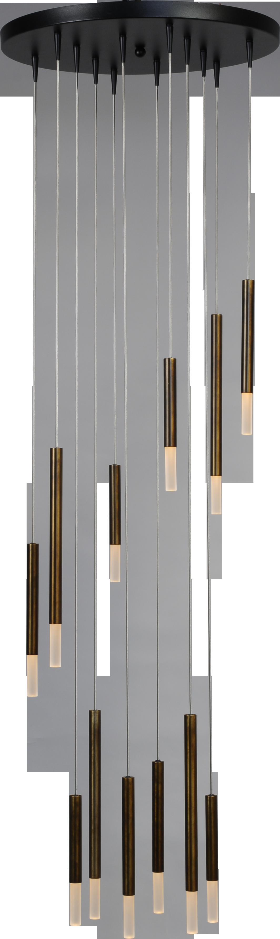 Flute HL FLUTE 12LTS BLACK/ANTIQUE BRASS Ø50CM