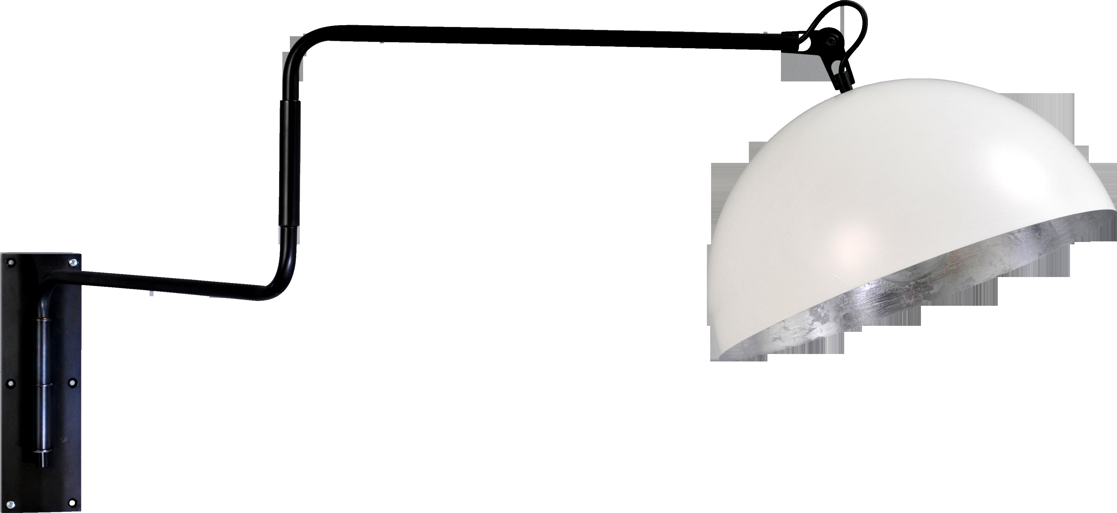 Larino White WL LARINO MATT BLACK MOVABLE ARM D.40CM