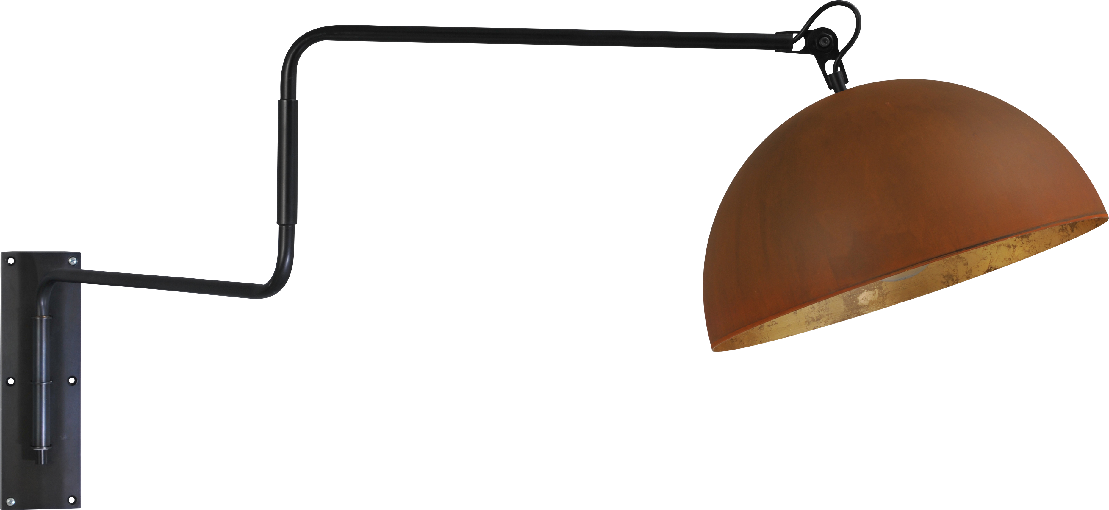 Larino Rust WL LARINO MATT BLACK MOVABLE ARM D.40CM