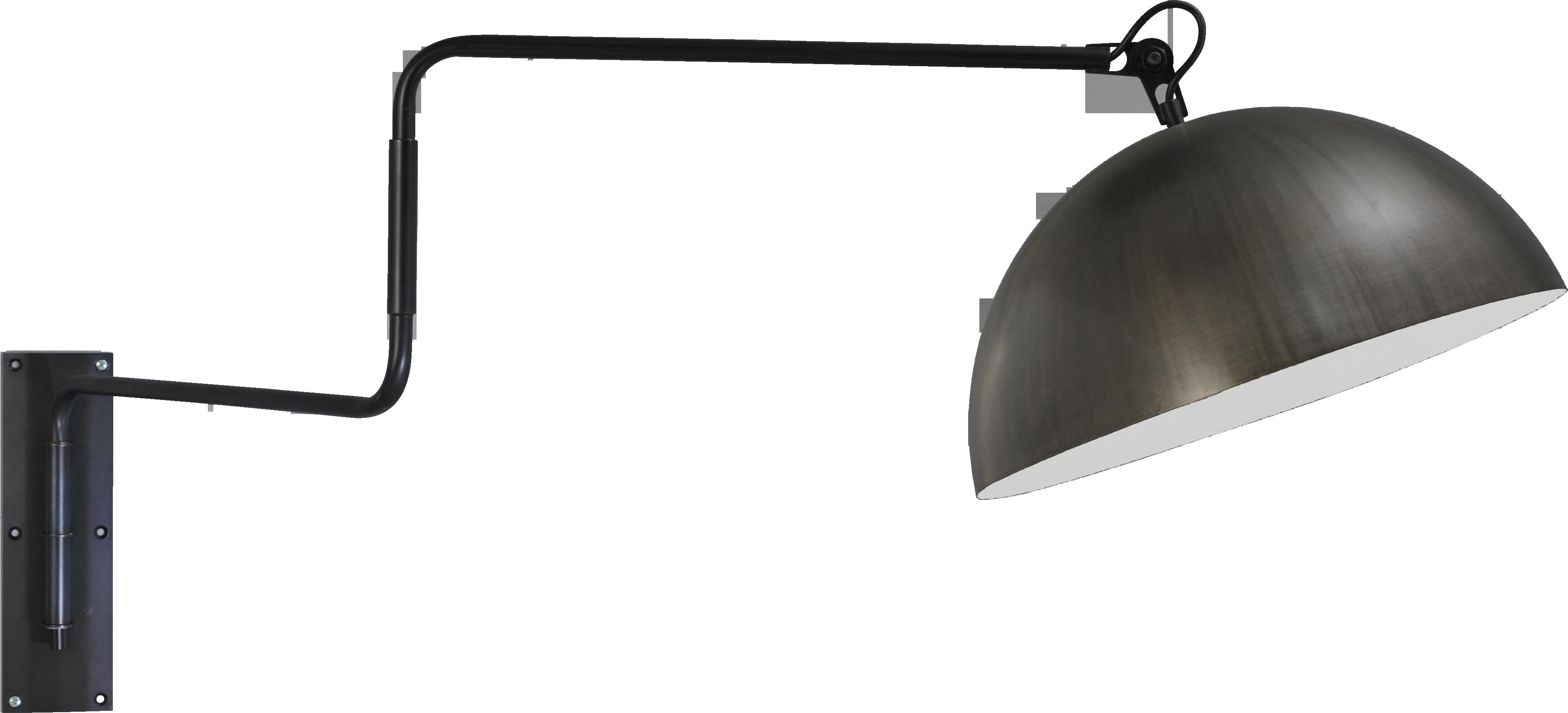 Larino Gunmetal WL LARINO MATT BLACK MOVABLE ARM D.40CM