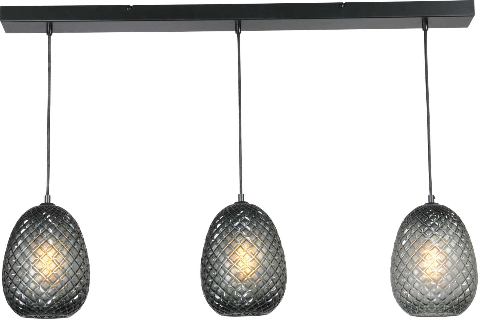 Pineapple HL PINEAPPLE BLACK 3-LIGHT BEAM BLACK 100X8CM