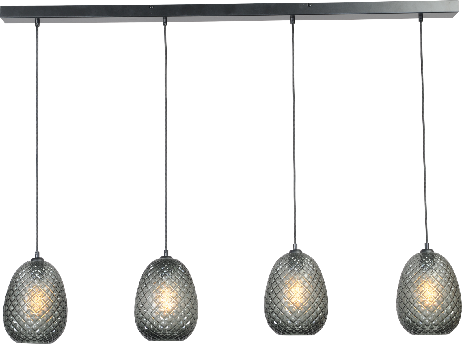 Pineapple HL PINEAPPLE BLACK 4-LIGHT BEAM BLACK 130X8CM