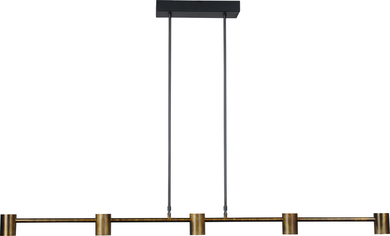Bones HL BONES BLACK/ANTIQUE BRASS 5-LIGHT