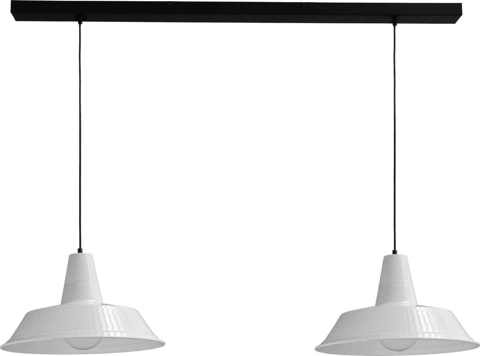 Prato HL PRATO 2LTS WHITE - BLACK BAR 130X8CM