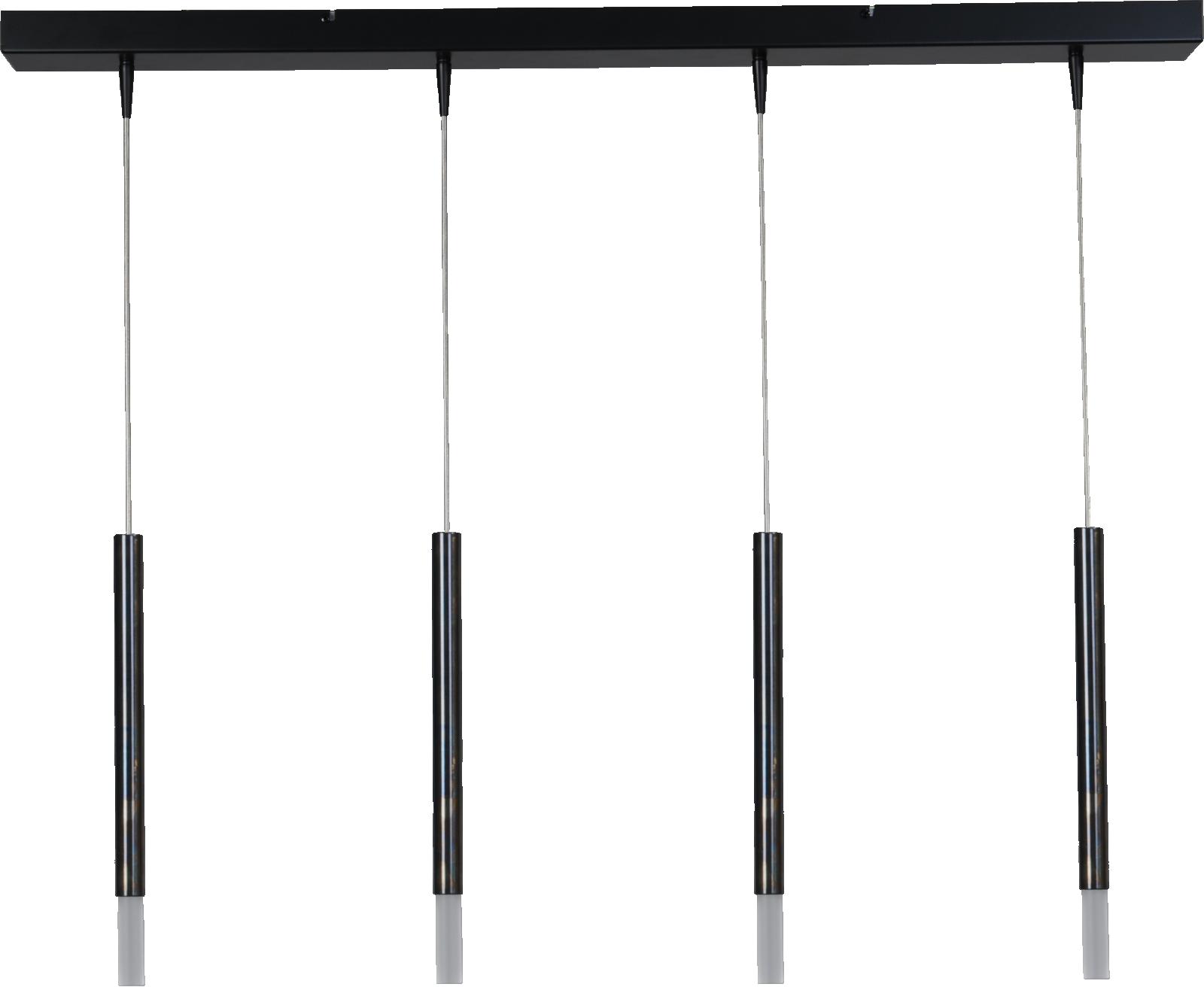 Flute HL FLUTE 4LTS BLACK/DAPPLED OIL 100X8CM